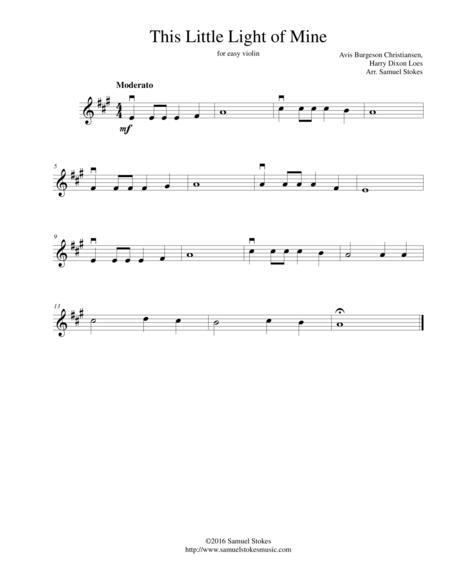 this little guiding light of mine sheet music