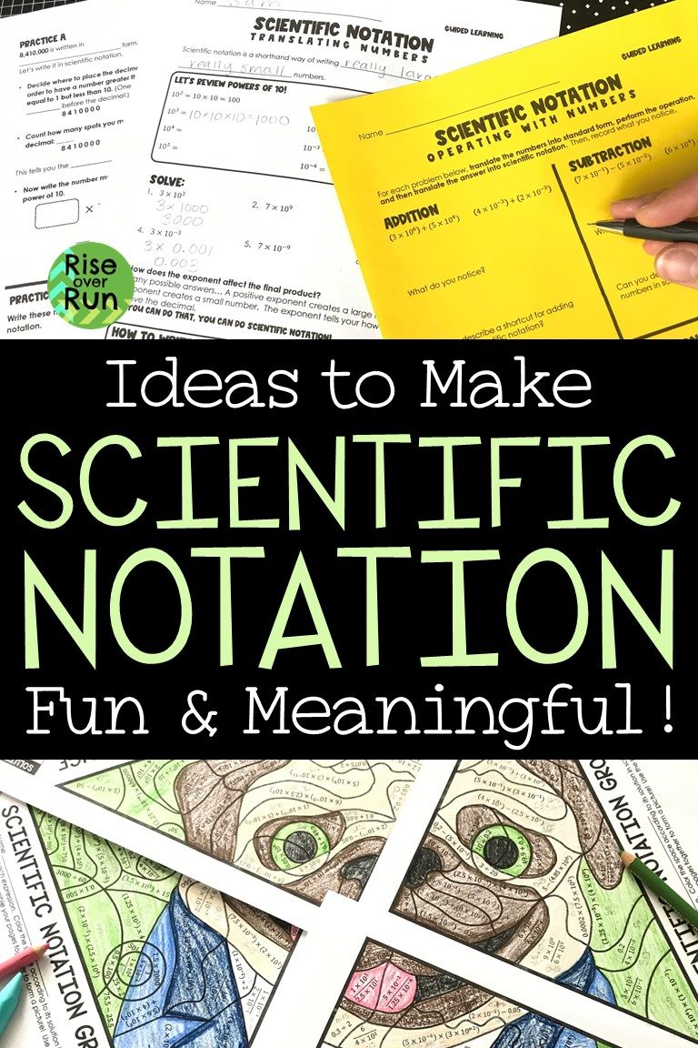 operations with scientific notation guided notes