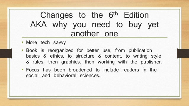 apa quick reference guide 6th edition