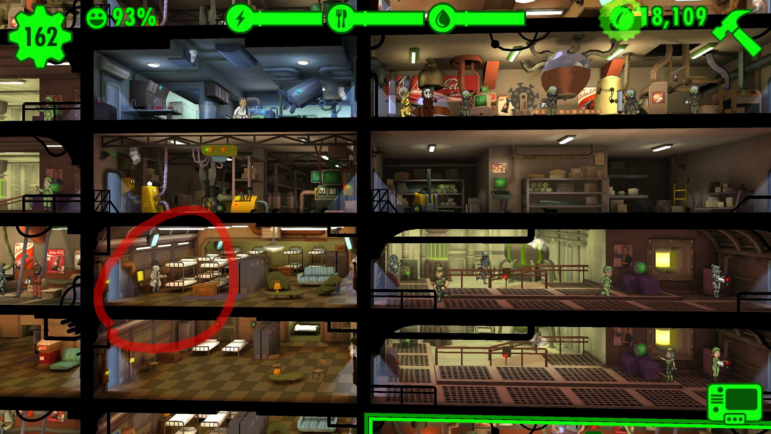 fallout shelter room size guide