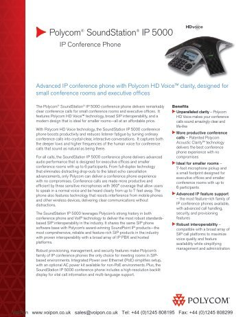 polycom ip5000 quick user guide
