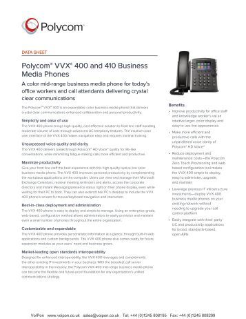 polycom vvx 500 quick user guide