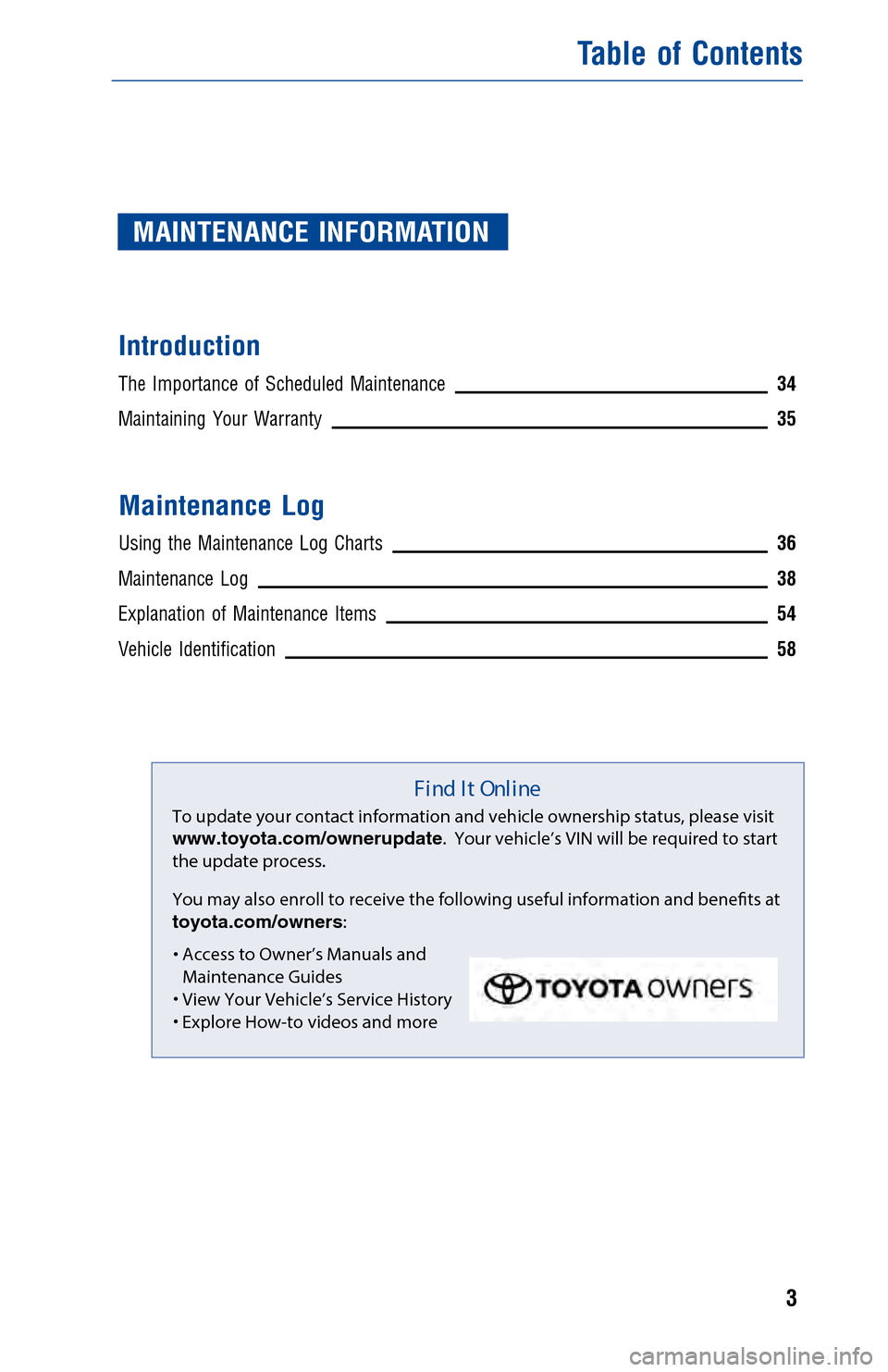 toyota warranty and maintenance guide