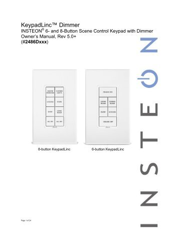 control4 keypad dimmer installation guide