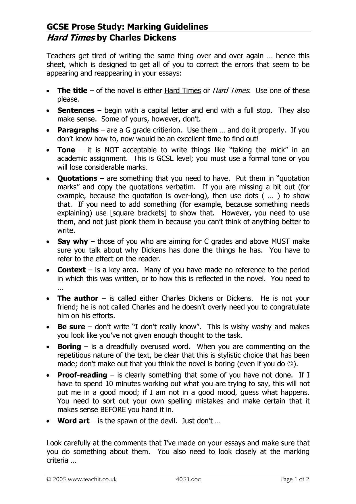 hard times study guide pdf