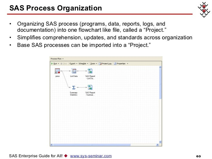 sas enterprise guide process flow order