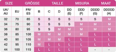 medela easy expression bustier size guide