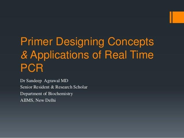 rt pcr primer design guide