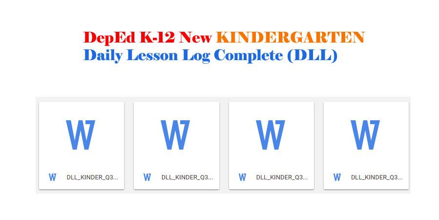 deped k to 12 curriculum guide kindergarten
