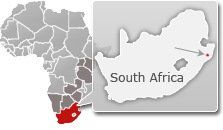 south africa travel guide map