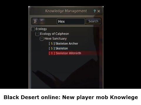 black desert online knowledge guide