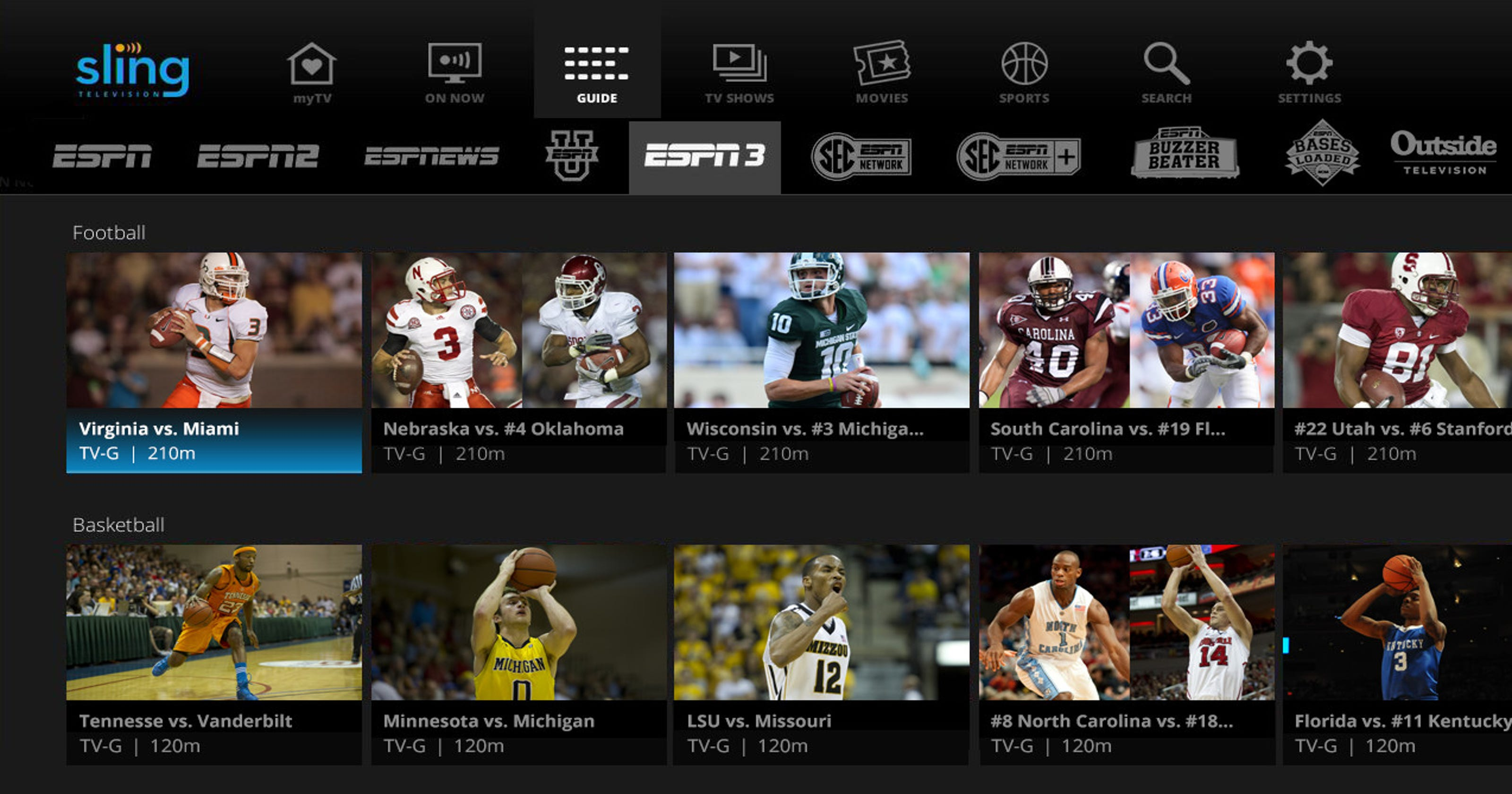 dish network tv guide for today