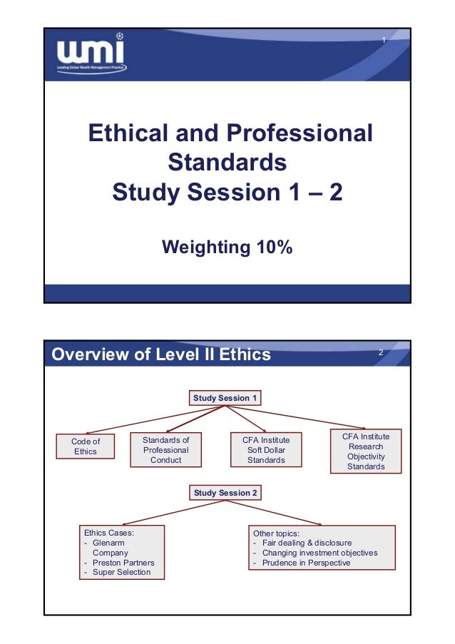 cfa level 1 ethics study guide