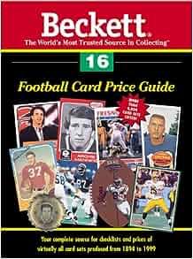 beckett football card price guide free