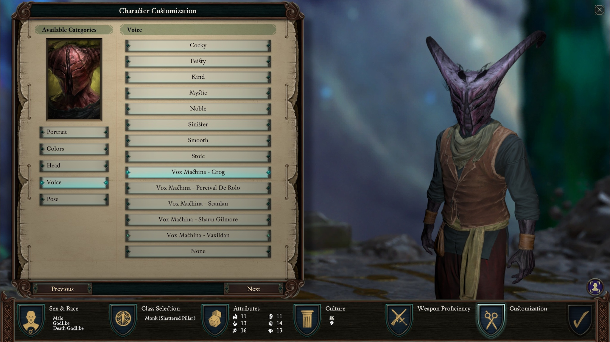 pillars of eternity character creation guide