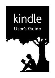 amazon kindle model d01100 user guide