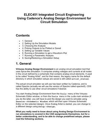 cadence analog design environment user guide