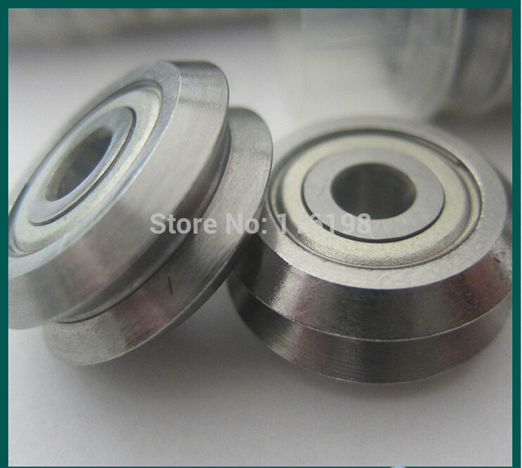 v groove guided track rollers