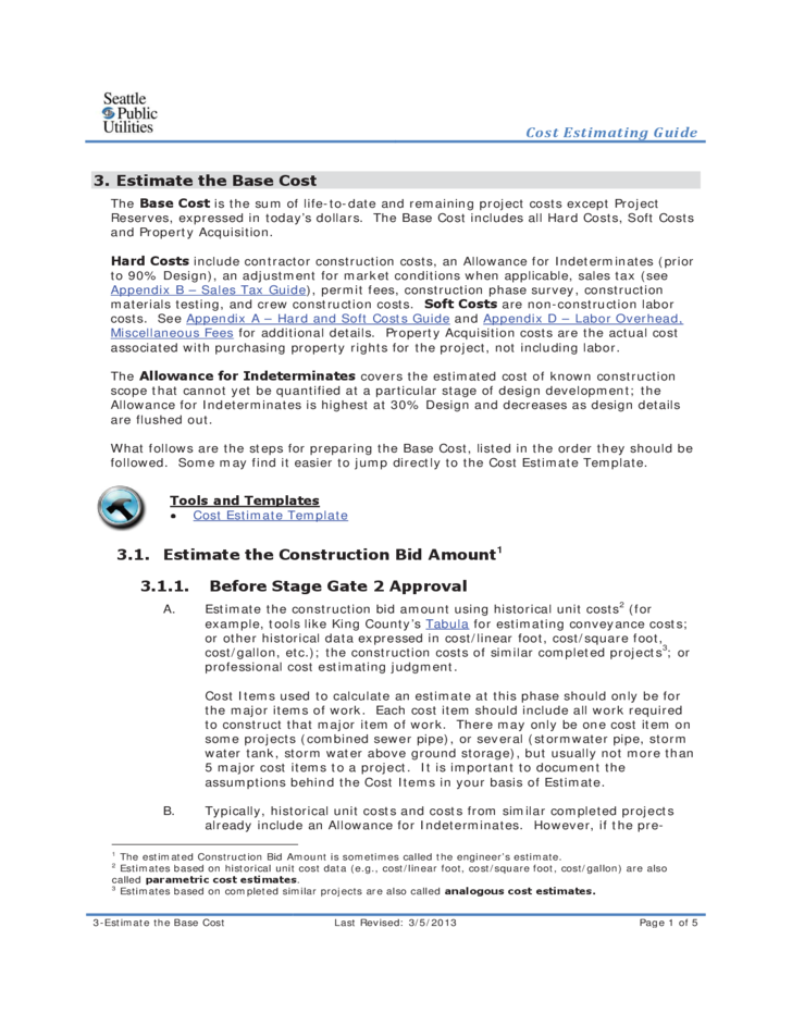 construction price guide free download