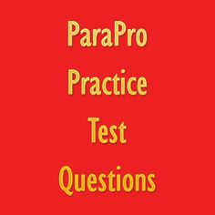 parapro assessment study guide 2015