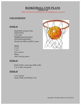 basketball study guide and test