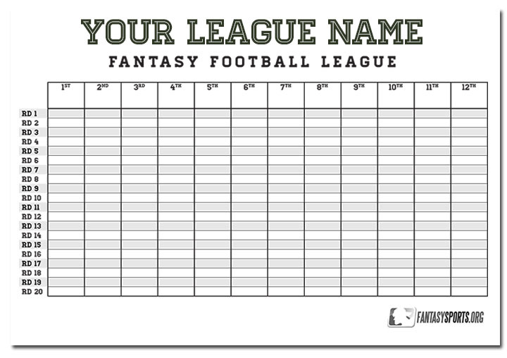 printable fantasy football draft guide
