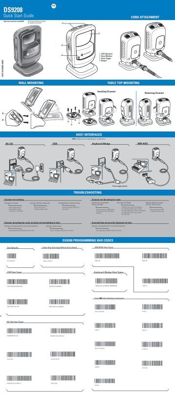 symbol ls4278 quick start guide