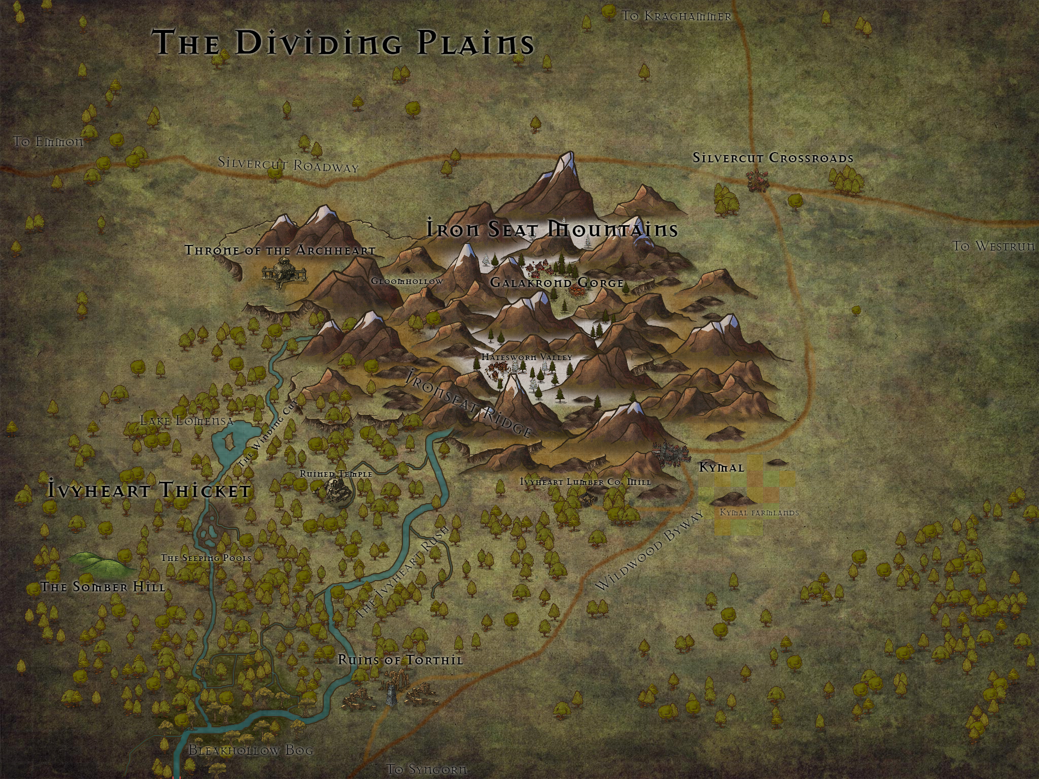 tal dorei campaign guide map